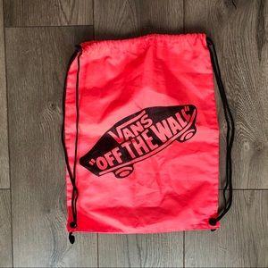 Vans drawstring backpack neon pink lightweight